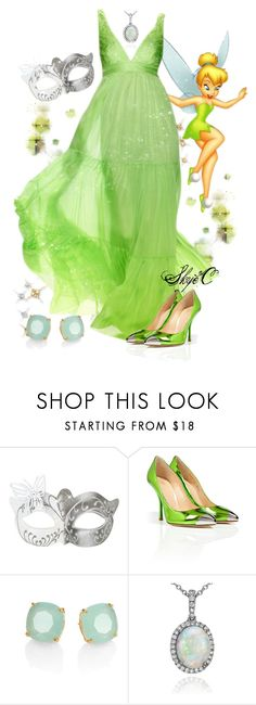 """""""Tinkerbell - Masquerade - Disney"""" by rubytyra ❤ liked on Polyvore featuring Giuseppe Zanotti, Kate Spade, Blue Nile, disney and Masquerade"""