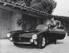 Steve McQueen and his 1963 Ferrari 250 GT Lusso