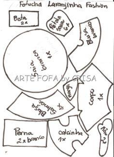 Moldes: Fofucha Naranjita Fashion   Todo en GOMA EVA