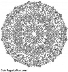 Mandala 8 Advanced Coloring Pages Mandala Coloring Pages, Coloring Book Pages, Coloring Sheets, Mandala Drawing, Mandala Art, Coloring Pages For Grown Ups, Colouring Pics, Art Textile, Copics