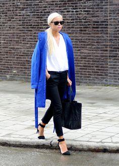 Shoes – Choies, Coat – Monki, Trousers – BikBok, Blouse – H & M, Bag – DonDonna