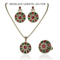 Crystal Flower 3pcs Sets Necklace, Earrings and Ring Item Tyle: Necklace And Earrings RING Sets Main Stone: AAA+ Austrian Crystals Other Stone: AAA Crysta