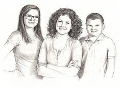 Portrait dessin de Photo  Family Portrait dessin Graphite