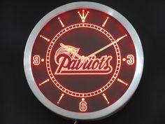 Patriots PRO 3D LED Wall Clock