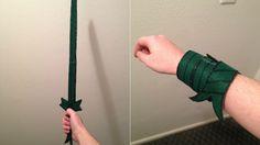 Adventure Time fan made a snap bracelet replica of Finn's Grass Sword