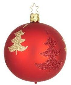 Inge's Christmas Decor Christmas Tree Glass Ornament