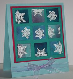 inchie-art-card_stampin-up_heat-embossing...snowflake inchies...good tutorial for this card on the blog...