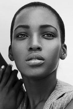 Short hair cut, Pixie cut, black and white portrait of model Dark Beauty, Beauty Skin, Natural Beauty, My Black Is Beautiful, Beautiful People, Beautiful Eyes, Foto Art, Black And White Portraits, African Beauty