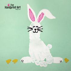 Footprint Bunny for April's Handprint Calendar 2