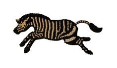 Leaping Zebra Magnet – beaded art by Monkeybiz