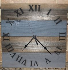 Rustic wood clock by HendryxHouseDesigns on Etsy, $23.00