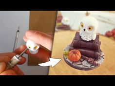 Making a HARRY POTTER inspired miniature with polymer clay! - YouTube Mundo Harry Potter, Polymer Clay, Miniatures, Inspired, Youtube, How To Make, Inspiration, Biblical Inspiration, Youtubers