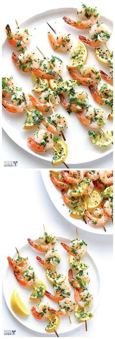 Shrimp Scampi Skewers