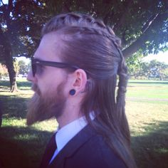 nealdk: I told my friend to braid my hair like a viking for a wedding. I think she nailed it.
