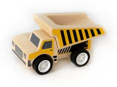 Wooden dump truck toy that will last.