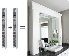 brilliant bathroom storage idea from House of Smiths!