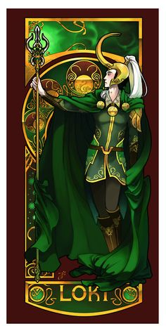 There can never be too much Art Nouveau Loki.