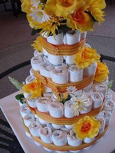 My first diaper cake...