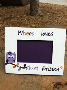 aunt auntie picture frame with owl by myfaithatwork on etsy 2700