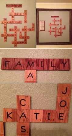 Blended family scrabble board.