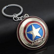 Cómics de marvel super hero captain america avengers llaveros llaveros titular monedero de la hebilla bolsa de accesorios de regalo llaveros k102(China (Mainland))