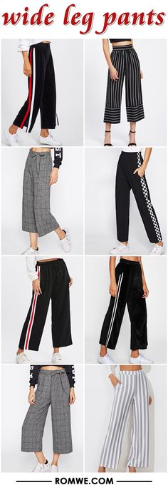 wide leg pants - romwe.com