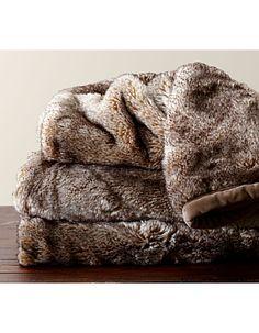 #POTTERY BARN# Faux Fur Throw