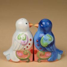 Jim Shore Salt and Pepper Shaker Set of 2 NIB #4025874 Love Birds