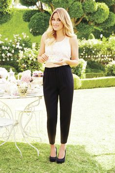 Black trousers for tea time (or any time). #LCLaurenConrad #Kohls