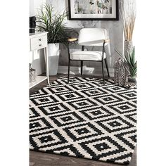 Quality Black And White Rug just for you. black and white rug nuloom black hand tufted kellee area rug, 5 x . Room Rugs, Rugs In Living Room, Black And White Carpet, Grey Carpet, Modern Carpet, Black Rug, Color Black, Affordable Rugs, Tuscan Decorating
