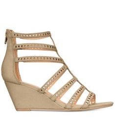 fb44235426 Material Girl Harriette Wedge Sandals, Created for Macy's - Tan/Beige 6.5M