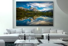Idaho Photography, Sawtooth Art, National Geographic Print, American Mountain Landscape, Serene Reflection Canvas, Large Home Decor Fine Art by SusanTaylorPhoto on Etsy