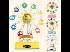 Musical Land Ferris Wheel/Eiffel Tower/Airplane Music Box 뮤지컬랜드 관람차 에펠탑 비행기 오르골