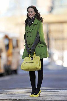 blair waldorf, brown hair, chuck and blair, gossip girl, green