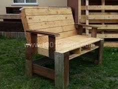 Two seater garden bench from pallets | 1001 Pallets | 1001 Pallets ideas ! | Scoop.it