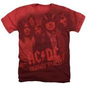 Slim Fit Heathers Tee - AC/DC-On The Highway