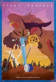 Final Fantasy VII FFXIII-2-Minimalist Fotos DIY Wall Sticker Home Decor Poster Vintage Línea Bar Carteles de Decoración Regalo