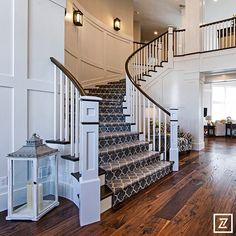 Taza carpet from Tuftex Carpets of California on this curved staircase!