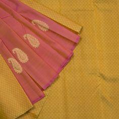 Kanakavalli Handwoven Kanjivaram Partly Pallu Sari 000811