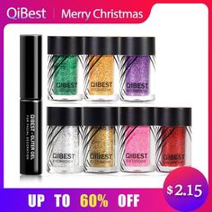 Qibest Super Eyeshadow Glitter Plus Glue Makeup Glitter Waterproof Colorful Laser Silver Powder Face Lip Body Festival Glitter Comfortable And Easy To Wear Body Glitter Makeup
