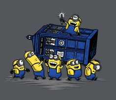 Get This Parody Doctor Who / Minions / Despicable Me Design now at TeeFury.com…