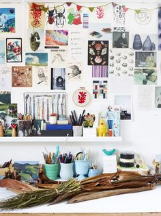 The Murwillumbah studio of textile artist Helle Jorgensen. Photo – Toby Scott, production – Lucy Feagins / The Design Files. Inspiration Wand, Inspiration Boards, Workspace Inspiration, Creative Inspiration, Fitness Inspiration, My New Room, My Room, Inside Design, The Design Files