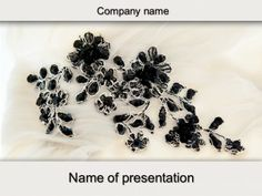 Stone Flowers powerpoint template