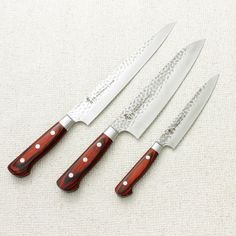 Sakai Takayuki 33 Layer Damascus Three Piece Set Yeah im getting these