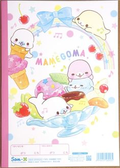 Mamegoma seals Notepad homework notebook from Japan