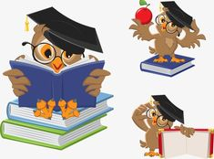 Cartoon owl teacher PNG and Vector Owl Cartoon, Cartoon Pics, Owl Vector, Owl Logo, Teacher Books, Brownie Girl Scouts, Owl Pictures, Beautiful Owl, Classroom Posters