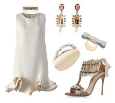 Viewing Party 🍸 by missactive-xtraordinary on Polyvore featuring polyvore, fashion, style, Chicwish, Casadei, Manolo Blahnik, Oscar de la Renta, J.W. Anderson, Shourouk and clothing