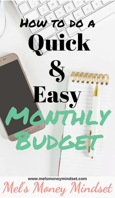 How to do a simple monthly budget. A quick and easy solution for people that HATE to budget! Make Money Fast, Ways To Save Money, Money Saving Tips, Money Tips, Saving Ideas, Managing Money, Entrepreneur, Monthly Budget Planner, Monthly Expenses