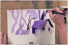Learn how to use creative brushstrokes on your watercolor paintings by watching this free, four minute YouTube video lesson by Sterling Edwards at ArtistsNetwork.tv