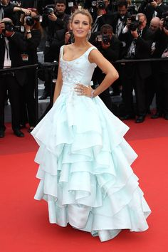 Pin for Later: Every Single Stunning Dress Blake Lively Has Worn at Cannes Blake Lively wowed the crowd at the Slack Bay premiere in a princess-worthy ballgown on the festival's third day. Style Blake Lively, Blake Lively Dress, Blake Lively Fashion, Blake Lively Cannes, Rihanna Red Carpet Dresses, Grammy Fashion, Fashion Fashion, Fashion Trends, Fashion Inspiration